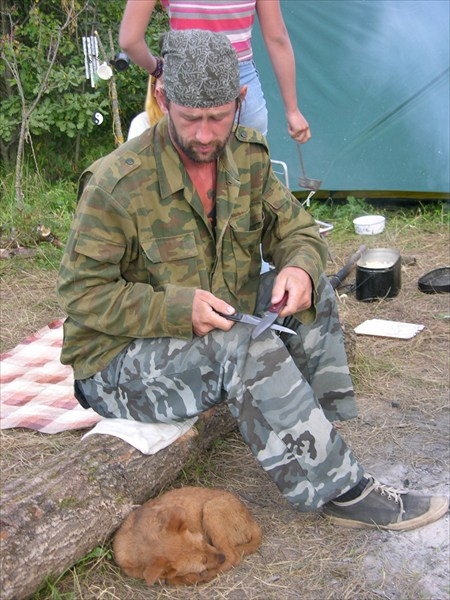 Ничейная собака в лесу - лишняя порция еды для Макса