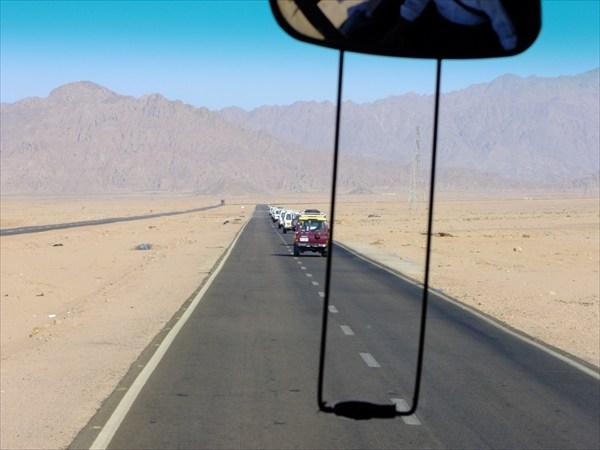 Дорога из Шарм-эль-Шейха на север
