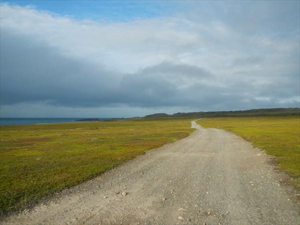 Дорога на мыс Кекурский
