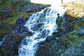 Водопад в Хибинах