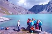 На озере Ала-Куль  (высота 3532м.)
