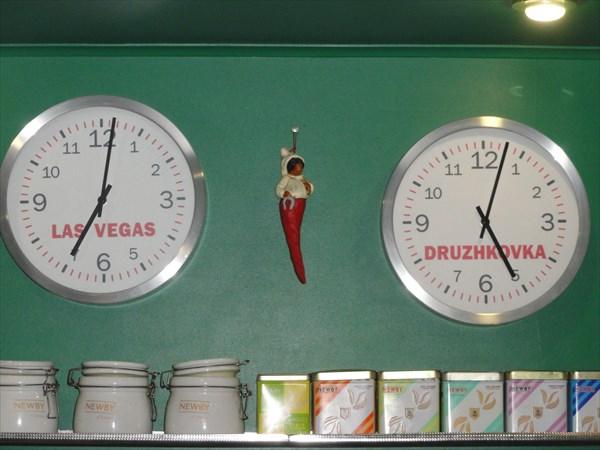Фирмовые часы, которые показывают время по Дружковке