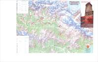 Сванетия. Туристическая карта с маршрутами